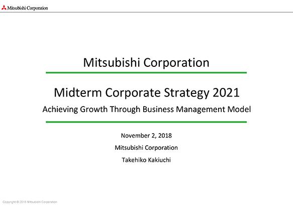 Midterm Corporate Strategy 2021 | Mitsubishi Corporation