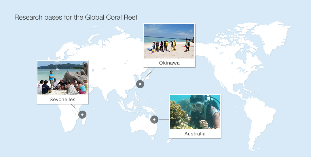 Research bases for the Global Coral Reef Conservation Project