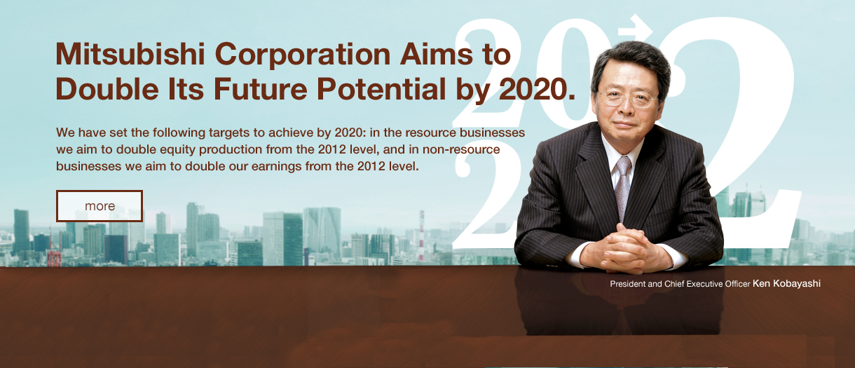 Mitsubishi Corporation Aims to Double Its Future Potential by 2020.