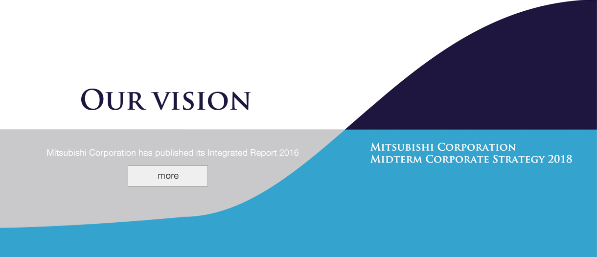 OUR VISION Mitsubishi Corporation has published its Integrated Report 2016 more