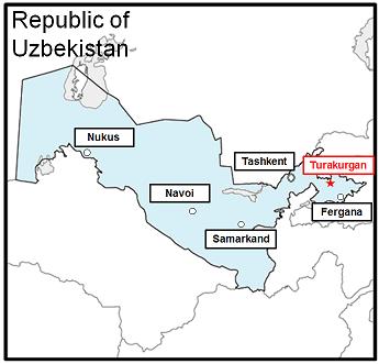 Mitsubishi Corporation Press Room Mitsubishi - Uzbekistan map png